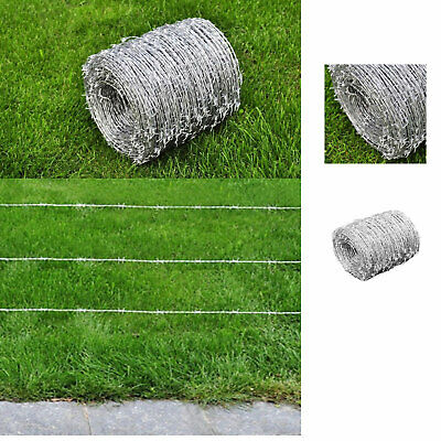 Barbed Barb Wire Garden Fencing Wire Protective Security Wire steel 500m Ø1.6mm