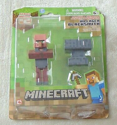 Minecraft Blacksmith Villager with Anvil New in Package