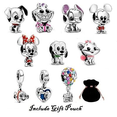 Disney Cartoons Characters Series Collection Charms S925 ALE with Gift Pouch