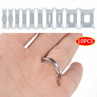 10x Invisible Design Ring Size Reducer Resizer Adjuster Clip Guard Snugs Set