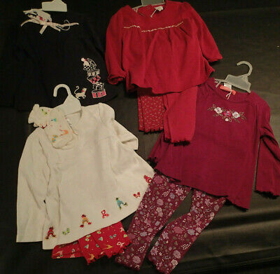 Gymboree Girls 2T 3T Traditions Plaid Dress And Sweater Set 2005