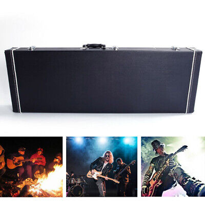 High Grade Electric Guitar Square Hard Case Leather Box Flat Surface Lockable US