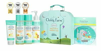 Childs Farm Baby Gifting Suitcase Containing Baby Wash, Bubble Bath,