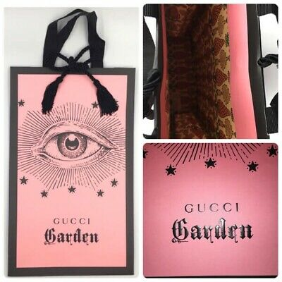 GUCCI GARDEN PINK PAPER SHOPPING BAG 38 x 23 cm | Eye Florence Italy