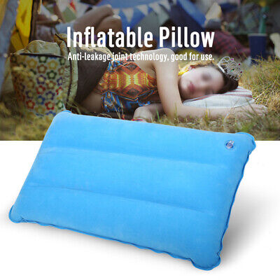 Portable Inflatable Air Pillow Cushion Ultralight Travel Hiking Camping Rest US