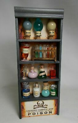Dolls House Miniature Apothecary 8 Fungus Mushroom Bottle And Labels Set 2