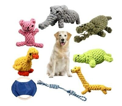 Puppy Chew Toys, Set of 8 Dog Rope Toys for Aggressive Chewers, Dog Toys with Sa