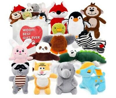 Dog Squeaky Toys for Small Dogs,Stuffed Animal Puppy Toys,Cute Puppy Chew Toys f