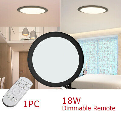 36//24//18W LED Celling Light UFO Dimmable Panel Down Round Ultra Thin Lamp Indoor