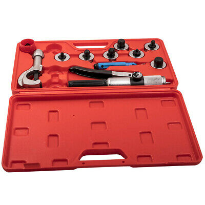 Hydraulic HVAC Tube Expander Heads Swaging Tubing Cutter 7 Lever Tool Kit Set