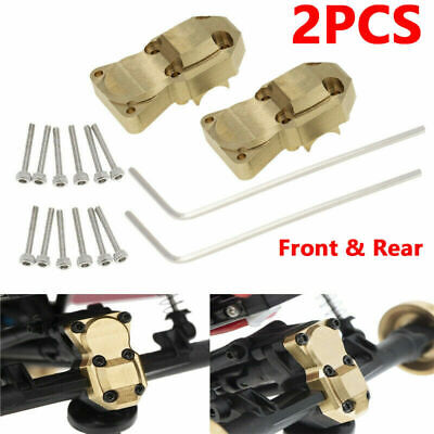 2x Brass Front Rear Axle Diff Housing Cover for Axial SCX24 1/24 RC Crawler DA