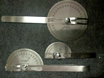 Goniometer  Medical Spinal Ruler Stainless Steel PACK OF 3 Fast Shipping