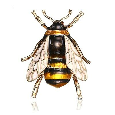 Vintage style brass bumblebee honeybee bee statement tie tack lapel pin  handmade in the USA  unique unisex  lead and nickel free