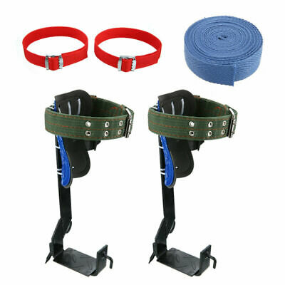 Tree Climbing Spike Spurs Safety Belt Straps Rope Adjustable Stainless Steel Us