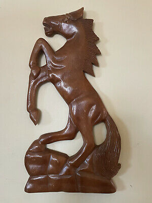 Wood Horse Vintage 60s-70s Mid Century Art Wall Hang Decor