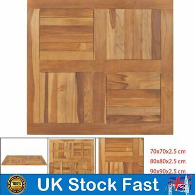 Modern Square Teak Wood Table Top Replacement Kitchen Dining Coffee Table Furnit