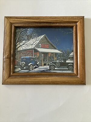 """Coca Cola General Store Picture Framed 6,5""""x5,5"""""""