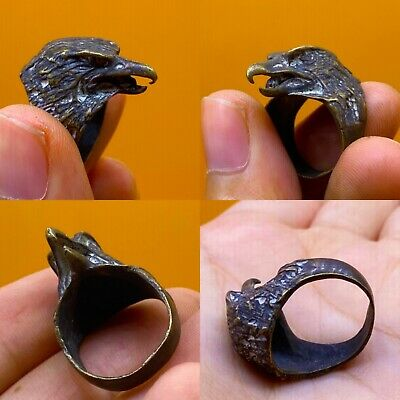 Detector Finds Ancient Byzantine Bronze Seal Eagle Ring