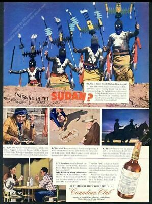 1941 Apache Devil Dancer Navajo Indian sand painting photo Canadian Club ad