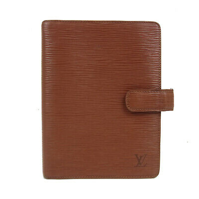 Auth LOUIS VUITTON NO STICKY Epi Leather Agenda MM Daily Planner Cover 18488bkac