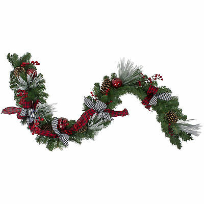 "Artificial Mistletoe Berries Garland Red by Threshold 72/"" x 6.5/"" New"
