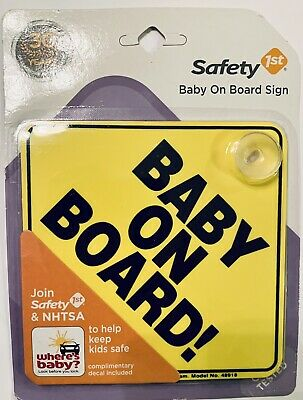 Safety First Baby On Board Sign with suction cup