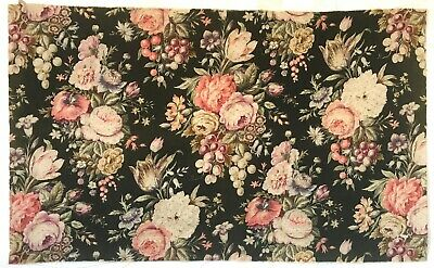 Beautiful 19th C. French Linen Floral Fabric  (2691)