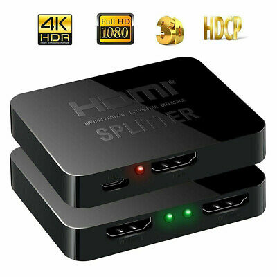 Full HD 4K HDMI Splitter 2 2 Ports Repeater Amplifier Hub 3D 1080p 1 In 2 Out GE