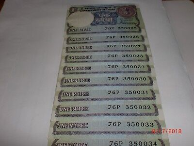 India Paper Money- 10 X Re.1/- Old Notes-S.venkitaramanan -Rare-A-48-1985 # Aa13
