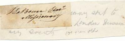 Jean Le Brun- Clipped Signature from the early 1800's (Anti-slavery)