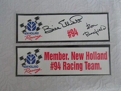 NOS! Two New Holland Racing Member Advertising Decals Emblems