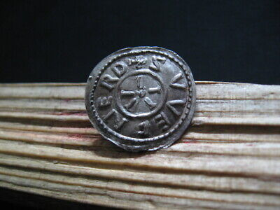 ECGBERHT 802-839 AD KING of WESSEX ANGLO-SAXON SILVER PENNY 1,65 gr. +SVVEFNEARD