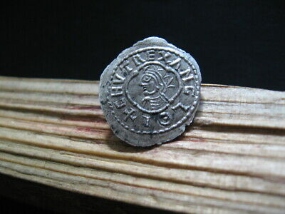 +CNVT REX CNUT 1016-1035 AD KING of All ENGLAND ANGLO-SAXON SILVER PENNY 1,60 gr