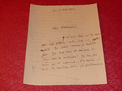 Letter Signed Autograph Georges Gangadhar Writer 1926 Action French J.Sadoul