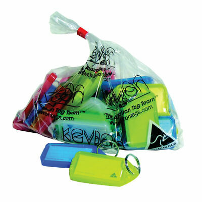 NEW! Kevron Plastic Clicktag Key Tag Large Assorted Pack of 25 ID30AC25