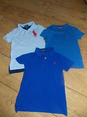 Boys Ralph Lauren Tommy Hilfiger Polo Shirt T-Shirt Age 5 Years