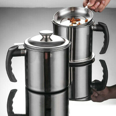 1.3L Stainless Steel Oil Storage Can Container with Fine Meshs6