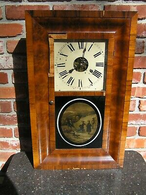 3pt8 ANTIQUE SETH THOMAS WEIGHT DRIVEN PENDULUM TIME STRIKE MANTLE CLOCK   ST135