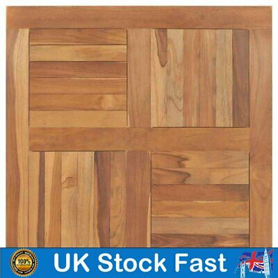 Table Top  Solid Teak Wood Square 60/70/80/90 cm Replacement Dining Table Parts