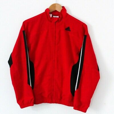 Boys Kids Adidas Black Red White Stripe 90s Y2K Style Track Jacket 13-14 Y