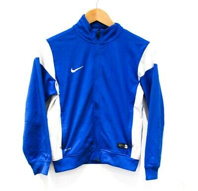 Kids Nike Blue White 90s Y2K Style Track Jacket 8-10 Y Athleisure football