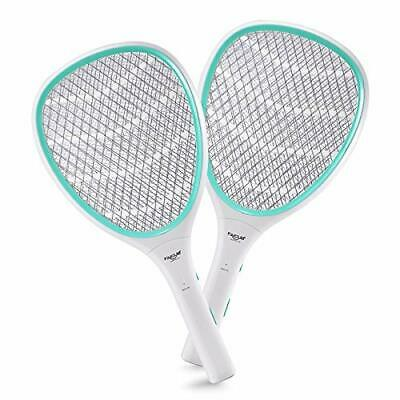 2-Pack Handheld Bug Zapper Racket Electric Fly Swatter Mosquito Killer