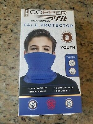 Copper Fit Guardwell Face Protector Youth Mask Blue New