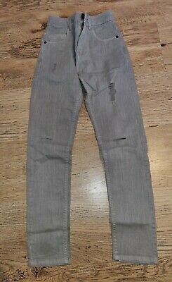 EUC Grey NEXT Boys Skinny Jeans age 10 years, Distressed