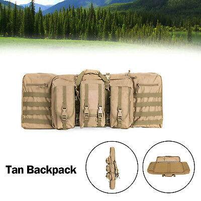 """36"""" Heavy Duty Double Carbine Rifle Bag Soft Gun Case Hunting Storage Backpack T"""