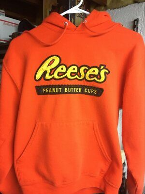 Reese's Peanut Butter Cups Retro Vintage Style Hoodie Sweatshirt Size -Small!