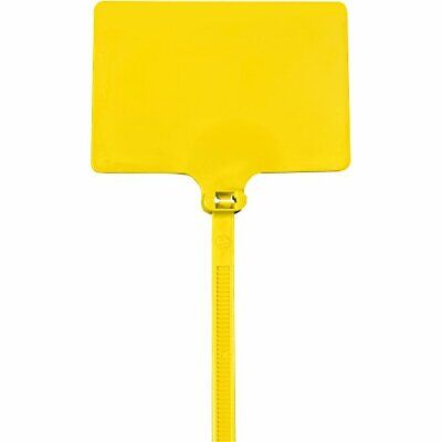 "Tape Logic TLCTID82 Identification Cable Ties 120# 6"" Yellow Pack of 100"