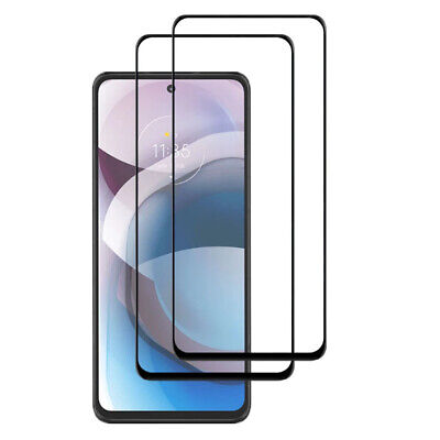 2PCS 9H Full Cover Tempered Glass Protector Guard For Motorola Moto One Ace 5G