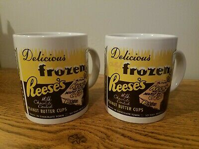 Two (2) Retro Reese's Coffee Mugs - Delicious Frozen Reese's Peanut Butter Cups