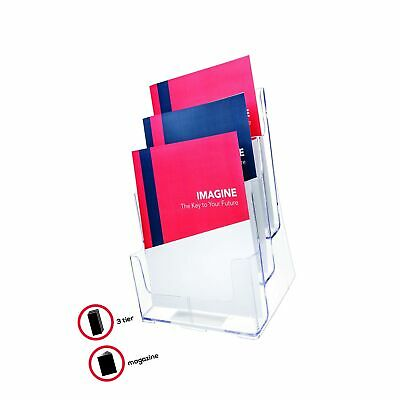 Deflecto Multi-Compartment Docuholder, Countertop or Wall Mount, 3-Tiered Lit...